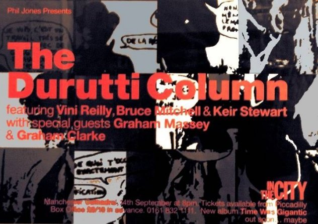 Poster for Durutti Column live at Manchester Cathedral, 24 Sep 1998