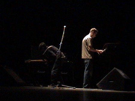 The Durutti Column live at Teatro Rivoli, Porto, Portugal 24 January 2004; Vini Reilly on guitar and Keir Stewart on keyboards [1]