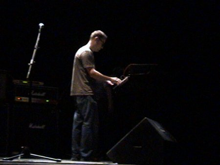 The Durutti Column live at Teatro Rivoli, Porto, Portugal 24 January 2004; Keir Stewart on keyboards
