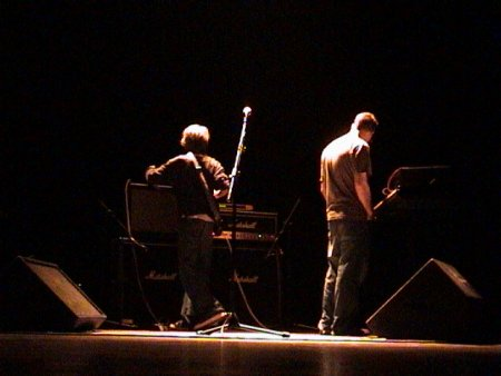 The Durutti Column live at Teatro Rivoli, Porto, Portugal 24 January 2004; Vini Reilly on guitar and Keir Stewart on keyboards [2]