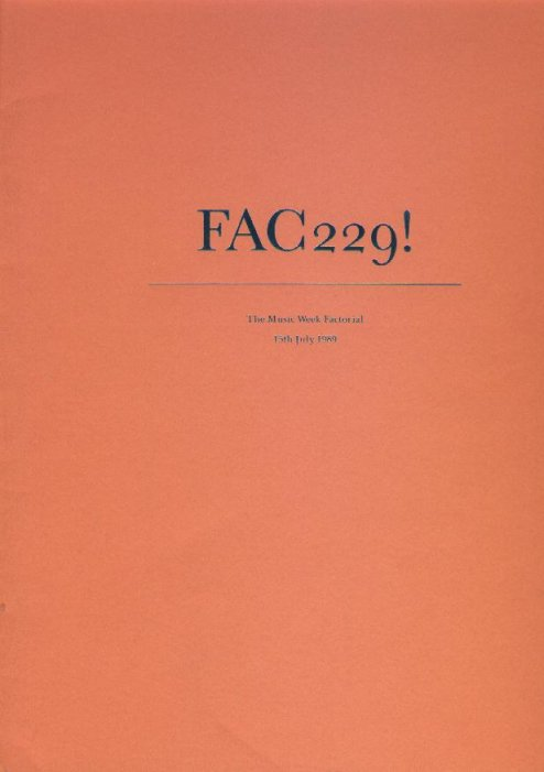 FAC 229! The Music Week Factorial