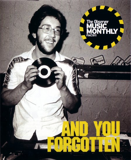 FAC 511: And You Forgotten - A Memorial Event For Rob Gretton; Observer Music Monthly booklet distributed free at the gig - front cover detail